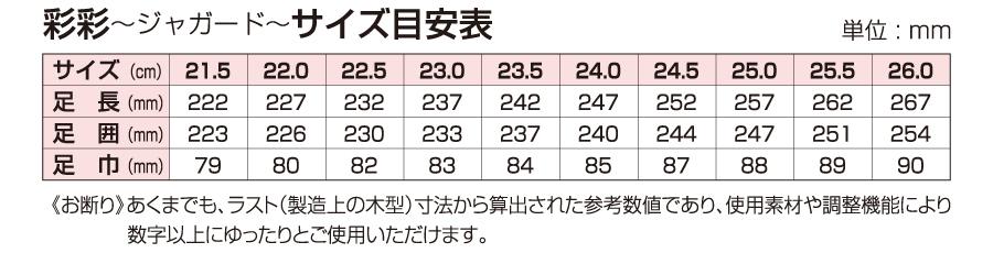 W902/903サイズ表